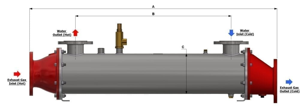 Bowman Exhaust Gas Heat Exchanger Drawing