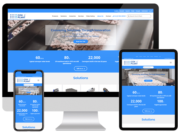 Cox & Plant, Business Website Created by VOiD Applications